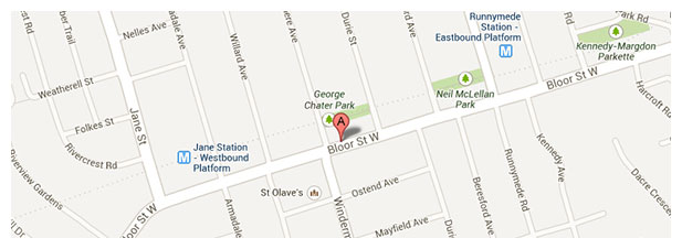 2320 Bloor Street West map